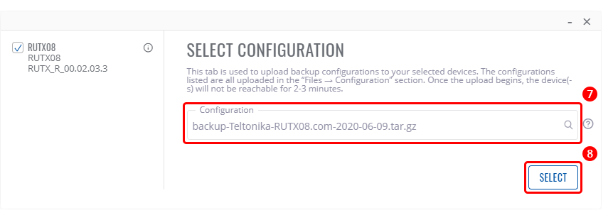 Networking rutx08 configuration examples configuration backup upload rms select configuration v1.png